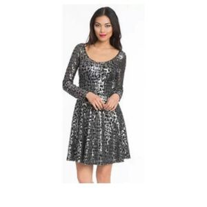 Plenty by Tracy Reese Black Silver Cocktail Dress